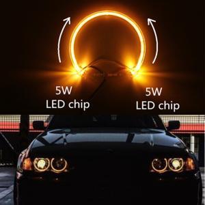 China Yellow 131mm LED guide light LED angel eyes for BMW E38 E39 E36 E46 LED headlight halo ring for BMW LED angel eyes wholesale