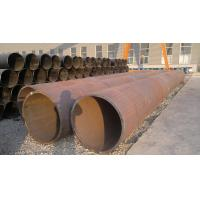 China Black Painted LSAW / ERW Welded Steel Pipe , Seamless Carbon Steel Pipe For Construction wholesale