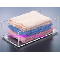 China Acrylic towel holder, plexiglass bath towel holder stand for hotel supplies wholesale