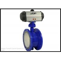 China ANSI Stanard Quarter Turn Pneumatic Actuator With Wafer Type Butterfly Valve wholesale