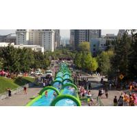 China 300m inflatable water slide dual lane for sale wholesale