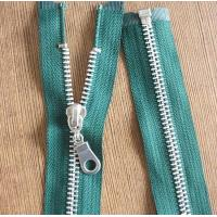China 8# Light Gold Teeth Long Separation Metal Zippers For Tent , Sleeping Bag wholesale