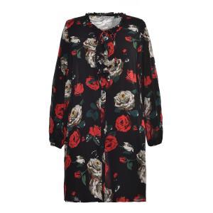 China Fashion Knitting Print Fabric Ladies Plus Size Dresses Long Style OEM ODM Service wholesale