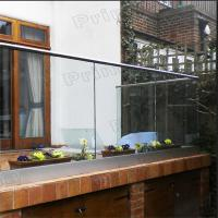 China Interior frameless glass balcony systems with powder coated Aluminum U channel wholesale