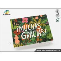 China Colorful Paper Greeting Cards Green Plant Printing With Voice Recording Module wholesale