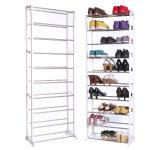 China Standing Amazing 10 Tier Shoe Storage Racks with White Plastic JP-SR3102 wholesale