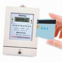 China Prepayment Electric Energy Meter Series, One-phase Multifunctional Power Meter with Prepay Feature wholesale