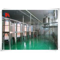 China Exact Liquid Level Milk Processing Equipment , Milk Production Machine 250 - 400 B/Min wholesale