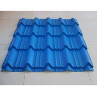 China Durable Roman Tile Galvalume Steel Roofing Sheets Blue Prepainted , 1300mm * 420mm on sale