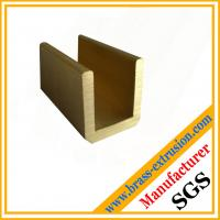 China C38500 CuZn39Pb3  CuZn39Pb2 CW612N C37700 zinc copper alloy brass profiles of U channel hardware wholesale