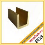 China chromeplate surface finish zinc copper alloy brass profiles of U channel hardware wholesale