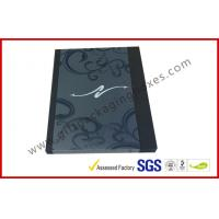 China Black Drawer Luxury Gift Boxes Foil  Logo In Silver With PVC Sleeve wholesale