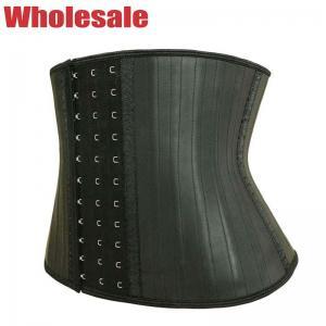 China Stomach Trimmer Belt Short Torso Waist Trainer 25 Steel Boned Corset 3 Rows Hook wholesale