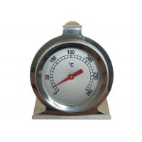 Stainless Steel Bimetal Inside Oven Thermometer , Heat Resistant Oven Temperature Thermometer