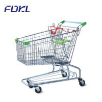 China Unfolding Steel Shopping Trolley , Wire Shopping Cart With Wheels wholesale