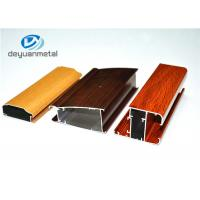 China Different Color 6063-T5 Aluminum Window Profiles Wood Grain For Household wholesale