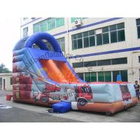 Customized Outdoor Inflatable Slide / Commercial Fire Truck Inflatable Slide