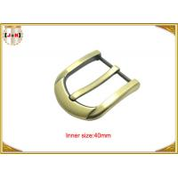 China 40mm Customized Fashion Gold Zinc Alloy Pin Belt Buckle Manufacturers wholesale