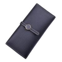 China Women PU Leather Money Clip Wallet Durable Hardware Buckle With Polyester Lining Material wholesale