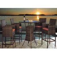 China 4 Seater Outdoor Rattan Furniture Coffee And Black Rattan Bar Set wholesale