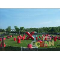 China Red Blue Outdoor Inflatable Paintball Bunkers Movable Barrier Shooting Gun wholesale