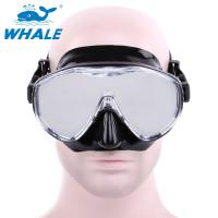 China Free Diving Adults womens dive mask Flexible Silicone Tempered Glass Lens wholesale