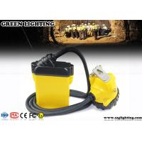 China 10.4AH Coal Miner Hard Hat Light Corded Style 25000 Lux Strong Brightness wholesale