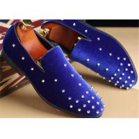 China Red Velvet Punk Style Rivet Loafer Slip On Shoes Lightweight For Spring , Summer wholesale