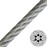 China 7x7 Vinyl Coated Steel Cable , Type Ss 302/304 stainless steel wire rope wholesale