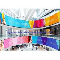 China P2.5 P3 P4 Ultra Thin Soft Ribbon Rubber Flexible Fixed Led Curtain Display With Any Shape / Size wholesale