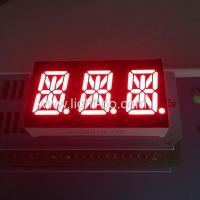 China Triple Digit LED 14 Segment Display 0.54 Inch Super Red For Temperature Control wholesale