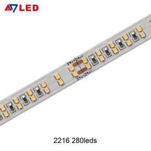China Adled light high power tape light smd 2216 280leds double row led strip 24v for the light box display wholesale