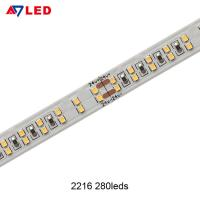 Buy cheap Adled light high power tape light smd 2216 280leds double row led strip 24v for from wholesalers