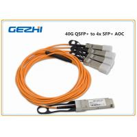 China 40G QSFP+ to 4x SFP+ AOC QSFP to four SFP+ active optical breakout cable wholesale