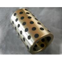Buy cheap CuZn25Al5 Bronze bushing with graphite MOS2 bearings with solid lubricant from wholesalers