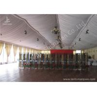 Transparent Glass Wall Aluminum Profile Wedding Event Tent , White Roof Lining for sale