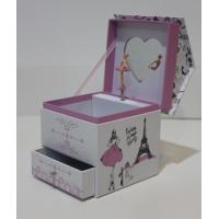 Wholesale desk-top paper/cardboard box with drawer and heart shaped mirror and girl figurine from china suppliers