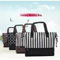 China Stripe / Dot Printing Zipper Breathable Baby Boy Diaper Bags For Pregnant Mother wholesale