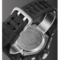 Quality Wholesale Synoke Men Dual time Pu Strap Multifunction Chronograph 5 ATM for sale