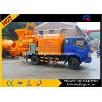 China Hydraulic Concrete Truck With Pump , Cement Mixture Machine 100kw Generator wholesale