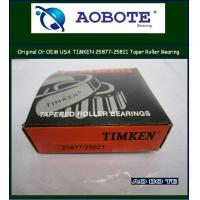 China Single row Timken Tapered Roller Bearing in automotive engineering 25877 / 25821 wholesale