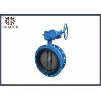 China Blue Color Soft Seal Butterfly Valve , Manual Butterfly Valve Lightweight wholesale