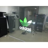 China Holographic Transparent Rear Projection Film For Shop Window Self Adhesive wholesale
