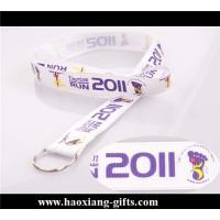 China customized logo white color 20*100mm Christmas gift for polyester lanyard wholesale
