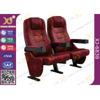 China Strong Durable 3D Movie Theater Chairs Floor Fixed With Folding Cupholder wholesale