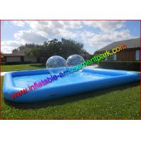 China  0.9mm PVC Tarpaulin Inflatable Water Swimming Pool , Blue  Aqua Pool for Outdoor  for sale