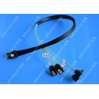 China SFF 8087 To SATA Serial Attached SCSI Cable 500mm 30 AWG 28 Pin For Server wholesale