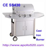 China Christmas Promotion Stainless Propane BBQ Grill with cast iron burner wholesale