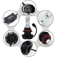 China H13 9004 9007 H4 High/Low 50W 8000LM G7 LED Headlight LUXEON ZES Fanless 6500K H4 Car LED headlight headlamps wholesale