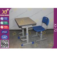 China Height Adjustable Floor Free Standing Kids School Desk Chair With Foot Rest wholesale